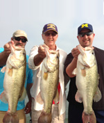 Mike, Mike and Alan set new personal bass fishing bests at Falcon Lake