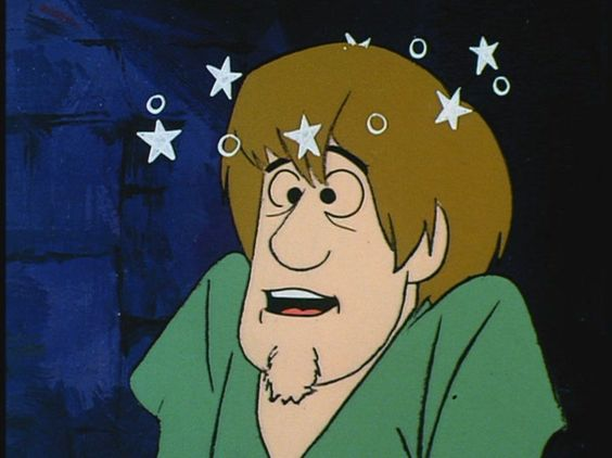 shaggy seeing stars